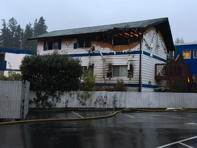 Transient Sets Fire To Blue Water Inn